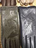 Сенсором Шкіра+Трикотаж жіночі перчаткис для роботи на телефоні плоншете стильні тільки оптом, фото 3