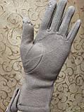 Сенсором Шкіра+Трикотаж жіночі перчаткис для роботи на телефоні плоншете стильні тільки оптом, фото 4