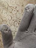 Сенсором Кожа+Трикотаж женские перчаткис для работы на телефоне плоншете cтильные только оптом, фото 5