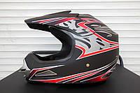 Шлем кроссовый BLD №-819 черный мат