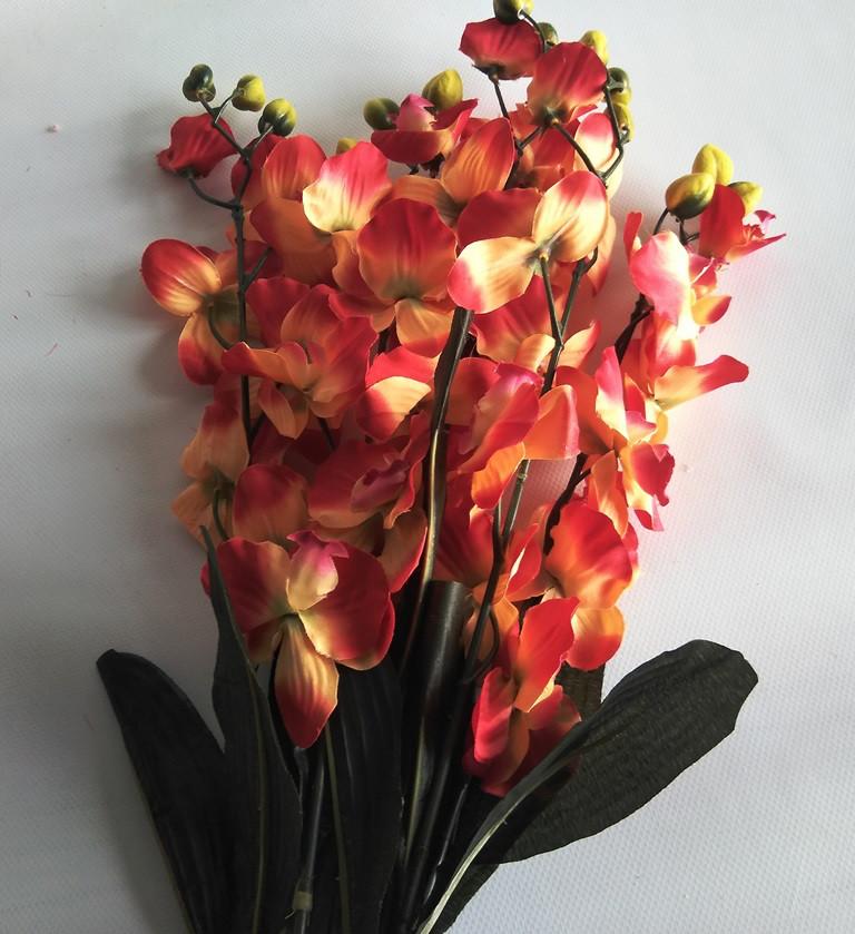 Ветка орхидеи красно-желтая