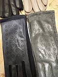 Сенсором Кожа+Трикотаж женские перчаткис для работы на телефоне плоншете cтильные только оптом, фото 3