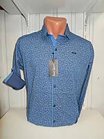 Рубашка мужская Paul Smith длинный рукав, стрейч, мелкий узор 01.09.2018 №2 001\ купить рубашку