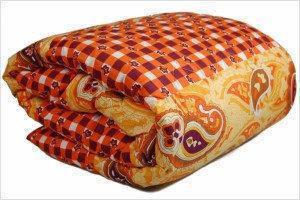 Зимнее шерстяное одеяло овчина евро размер, фото 2