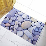 Коврик универсальный прорезиненный мягкий «Речная галька» 45×75 см, фото 4