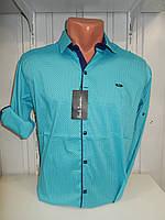 Рубашка мужская Paul Smith длинный рукав, стрейч, мелкий узор 01.09.2018 №5 001\ купить рубашку