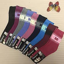Женские махровые носки, зимние носочки с рисунком