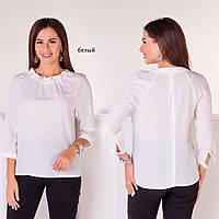 Блуза бусины белый
