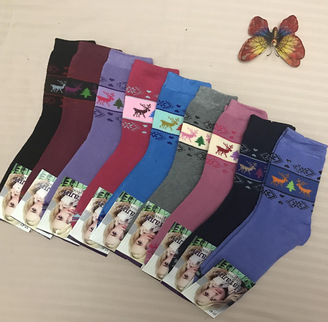 Махровы жіночі шкарпетки, теплі шкарпетки зимові