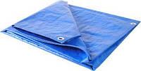 Тенты 3*5 м, готовые размеры в ассортименте,- тент Тарпаулин синий 75 г/м2