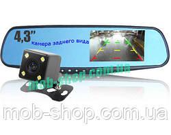 Автомобільний реєстратор-дзеркало DVR 138 Full HD + камера заднього виду