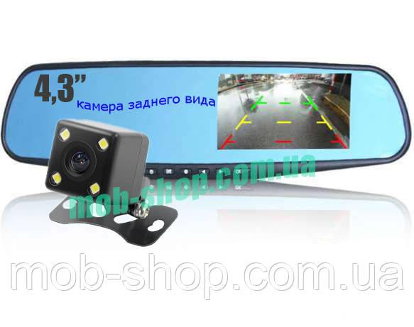 Автомобильный регистратор-зеркало DVR 138 Full HD + камера заднего вида