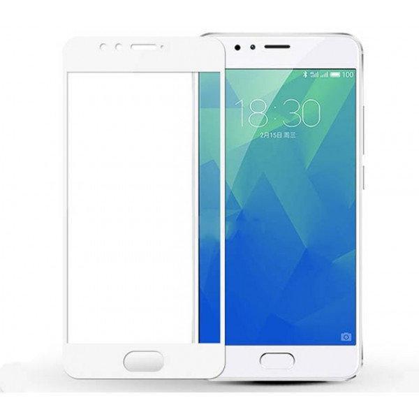 Захисне і загартоване скло GLASS 2.5 D для Meizu M5S біла рамка