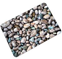 Коврик универсальный прорезиненный мягкий «Цветная галька» 45×75 см
