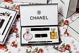 Подарочный набор Шанель Chanel Парфюмы + Косметика 5 в 1 (копия)., фото 3