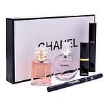 Подарочный набор Шанель Chanel Парфюмы + Косметика 5 в 1 (копия)., фото 4