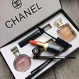 Подарочный набор Шанель Chanel Парфюмы + Косметика 5 в 1 (копия)., фото 7