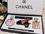 Подарочный набор Шанель Chanel Парфюмы + Косметика 5 в 1 (копия)., фото 6