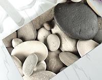 Коврик универсальный прорезиненный мягкий «Черный булыжник» 45×75 см