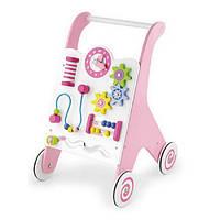 Ходунки-каталка Viga Toys розовые (50178)