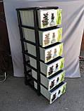Пластиковый комод на 6 секций, фото 5