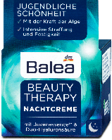 Balea ночной крем для лица с двойным концентратом гиалуронки 50мл