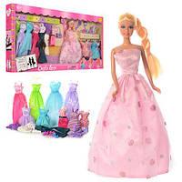 Кукла с нарядами DEFA 8193 одежда,обувь,аксессуары лялька з одягом Барби