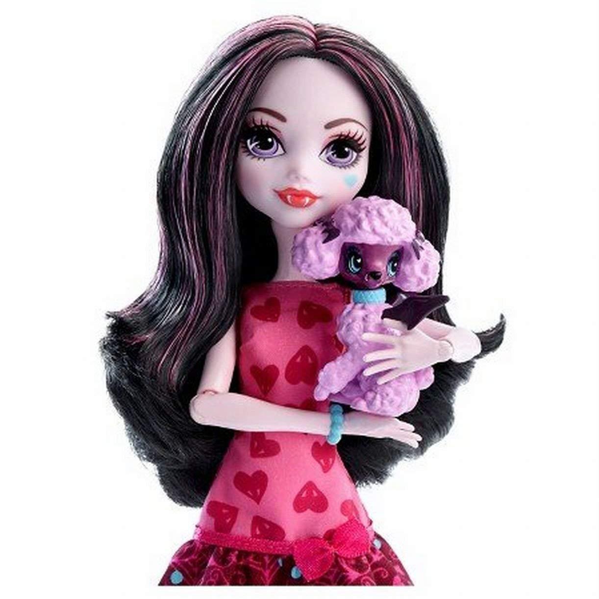 Кукла Monster High Дракулаура с питомцем Ghouls Beast Pet Draculaura Mattel