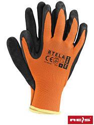 Робочі рукавички покриті латексом RTELA PB
