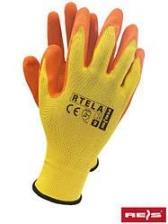 Рабочие перчатки покрытые латексом RTELA YP