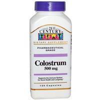 Колострум Молозиво 120 капс 500 мг для детского иммунитета от дисбактериоаза противовирусное 21st Century USA