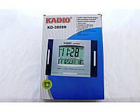 Электронные настольные часы Kadio KK 3809 импульсный, 12В, 15А, от  сети 220В, серые, пластик, римские цифры