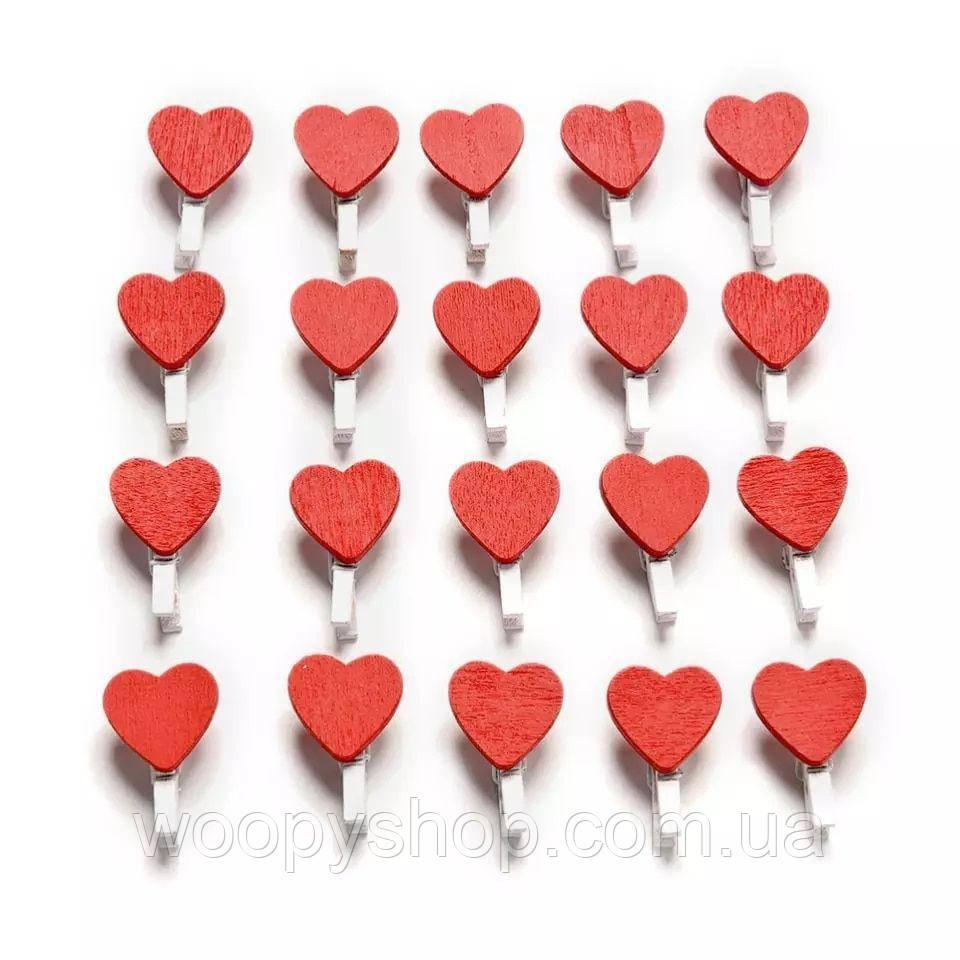 Декоративные прищепки красные сердца