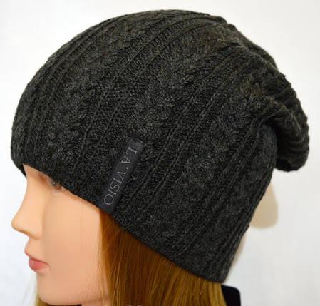 Женская вязаная шапка La Visio 262 двухсторонняя  , фото 2