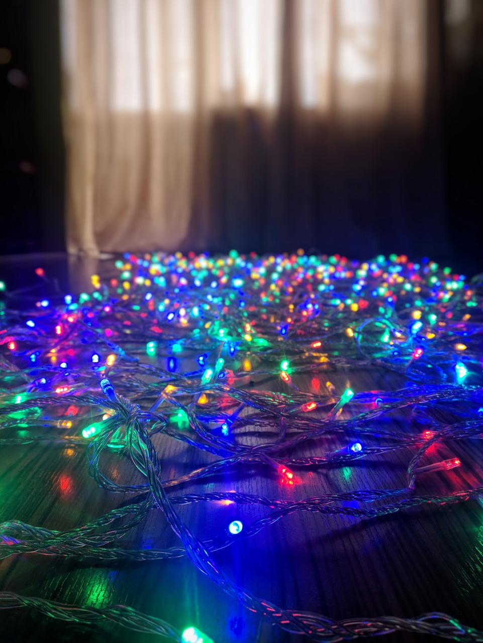 Гирлянда новогодняя электрическая LED 600 лампочек