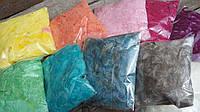 Натуральный декор - набор птичьего пуха, разные цвета, 10 упаковок, одна упаковка 5 гр., 100 гр.