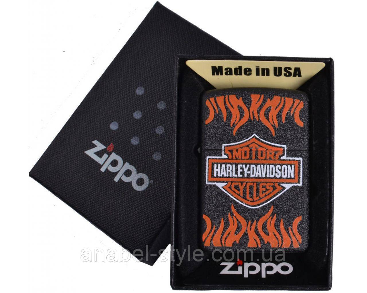 Зажигалка бензиновая Zippo HARLEY-DAVIDSON в подарочной упаковке №4739-1 Код 118576