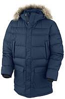 Мужская куртка Columbia PORTAGE GLACIER™ III  DOWN LONG JACKET  темно-синяя