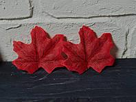 Осенний листочек красный 7 см 1 шт