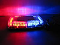 Световая панель мини ,проблесковый маячок  LED - 640 спец.сигнал  красно- синий