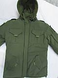 Костюм утепленный серии Антитеррор (Куртка и брюки) из ткани совтшел олива, фото 7