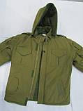 Костюм утепленный серии Антитеррор (Куртка и брюки) из ткани совтшел олива, фото 8
