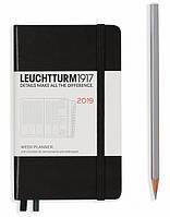 Еженедельник в колонках Leuchtturm1917 Карманный А6 (9х15 см) Чёрный 2019 , фото 1