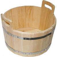 Ведро деревянное (бадья) в металических ободах 12 л.