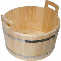 Ведро деревянное (бадья) в металических ободах 17 л.