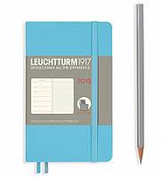 Еженедельник с заметками Leuchtturm1917 Мягкая обложка Карманный А6 (9х15 см) Ледяной синий 2019