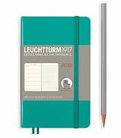 Еженедельник с заметками Leuchtturm1917 Мягкая обложка Карманный А6 (9х15 см) Изумрудный 2019