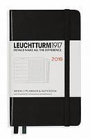 Еженедельник с заметками Leuchtturm1917 Мягкая обложка Карманный А6 (9х15 см) Чёрный 2019