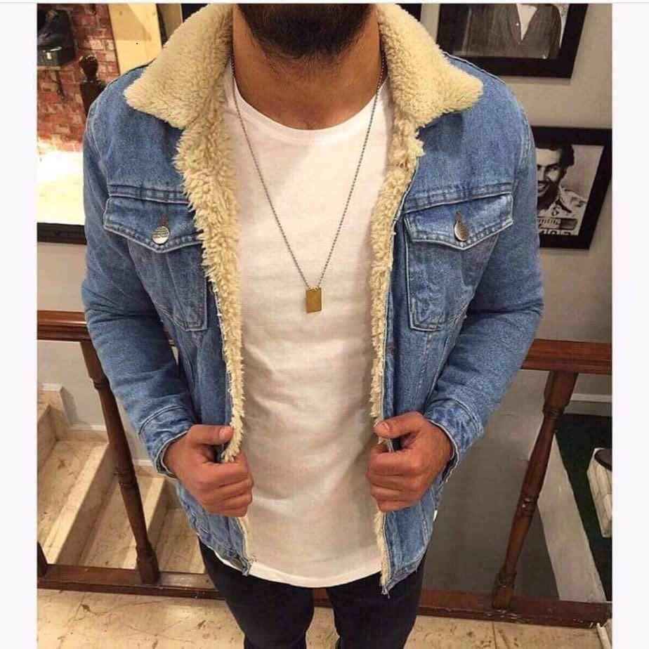 Куртка мужская джинсовая на меху демисезон
