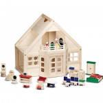 Деревянный меблированный домик с куклами ТМ Melissa&Doug